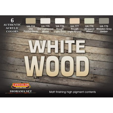 Life Color White Wood DIORAMA SET