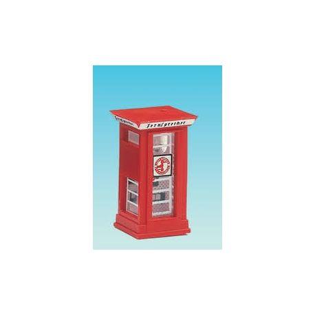 BRAWA 4568 CABINA TELEFONICA STILE INGLESE SCALA N