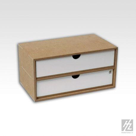 Hobbyzone cassettiera a 2 cassetti (27,4cm x 13,2cm x 5,8cm) Dimensioni 30cm x 15cm x 15 cm