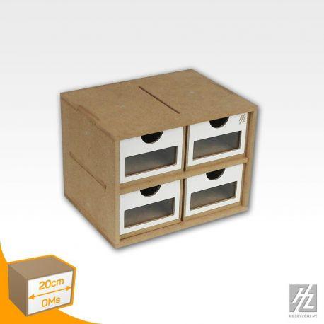 Hobbyzone cassettiera a 4 cassetti (8cm x 13cm x 6cm) Dimensioni 20cm x 15cm x 15 cm