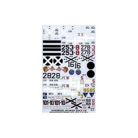 TAURO MODEL 48559 INSEGNE E NUMERI REGIA AERONAUTICA PER SM 79 - G 50 - Cr 42 - BA 65