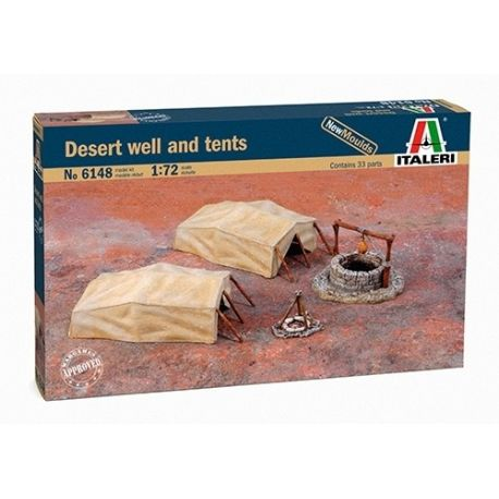ITALERI 6148 DESERT WELL AND TENTS