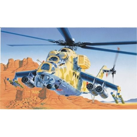 ITALERI 014 HELICOPTER MIL-24 Hind D/E