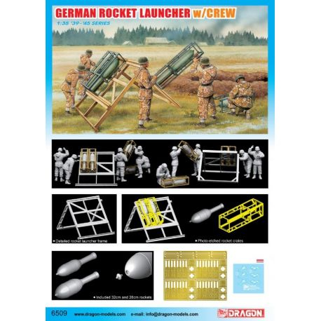 Dragon 6509 German Rocket Launcher w/Crew