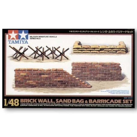 TAMIYA 32508 Brick Wall Sand Bag Barricade 1/48
