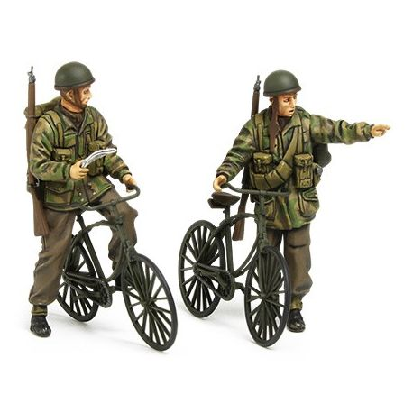 Tamiya 35333 PARACADUTISTI CON LE BICICLETTE British Paratroopers Set - w/Bicycles