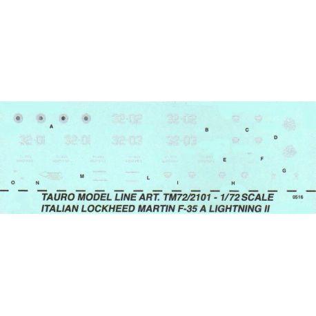 TAURO MODEL 722101 INSEGNE LOCKHEED-MARTIN F-35 LIGHTNING II - 32° STORMO Decals 1/72