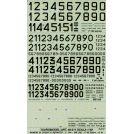TAURO MODEL 48511 NUMERI DI REPARTO E MATRIC. A.M.I. PER F 104 - G 91 R - MB 326 - F 86 DECALS 1/48