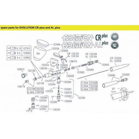 Harder & Steenbeck 123534 chrome socket of fPc valve CRPlus