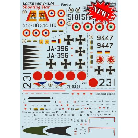 PRINT SCALE 72270 Lockheed T-33A Shooting Star Part 3