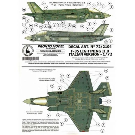 TAURO MODEL 722104 F-35 LIGHTNING IIB ITALIAN VERSION 1/72