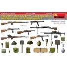 MINIART 35268 SOVIET INFANTRY AUTOMATIC WEAPONS & EQUIPMENT. SPECIAL EDITION