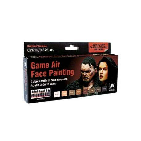 Vallejo GAME Color: Game Air SET 17ml - Face Painting (by Angel Giraldez)