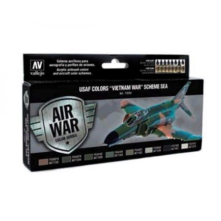 "Vallejo MODEL AIR Color: set 8 colori acrilici da 17 ml - USAF Colors ""Vietnam War"" Scheme SEA"
