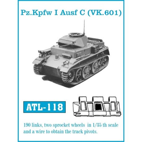 FRIULMODEL ATL-118 Pz.KpfwbI Aufs C (VK.601)
