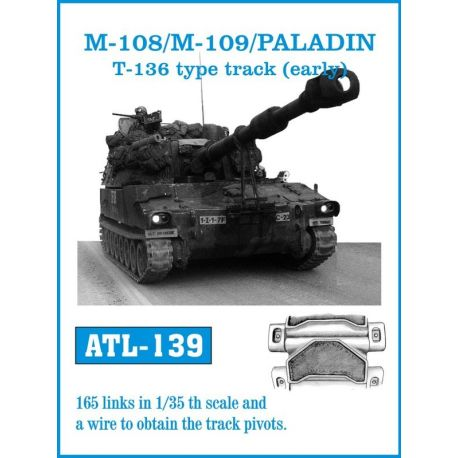 FRIULMODEL ATL-139 M-108/M109 /PALADIN T-136 type track (early)