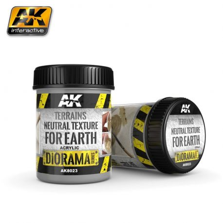 AK INTERACTIVE 8023 TERRAINS NEUTRAL TEXTURE FOR EARTH 250ML (BASE PRODUCT)
