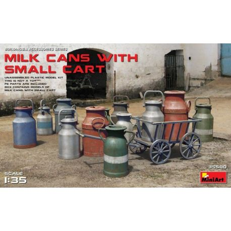 MINIART 35580 MILK CANS WITH SMALL CART 1/35