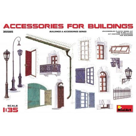 MINIART 35585 ACCESSORIES FOR BUILDINGS 1/35