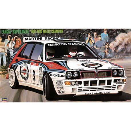 HASEGAWA CR15 LANCIA SUPER DELTA '92 WRC MAKES CHAMPION, scala 1/24
