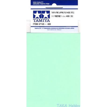 Tamiya 87185 Fine Lapping Film 4000 (3 sheets)