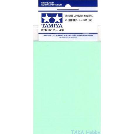 Tamiya 87185 FOGLI ABRASIVI GRANA 4000, 3PZ