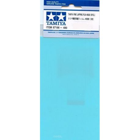 Tamiya 87186 Fine Lapping Film 6000 (3 sheets)