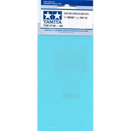 Tamiya 87186 FOGLI ABRASIVI GRANA 6000, 3PZ