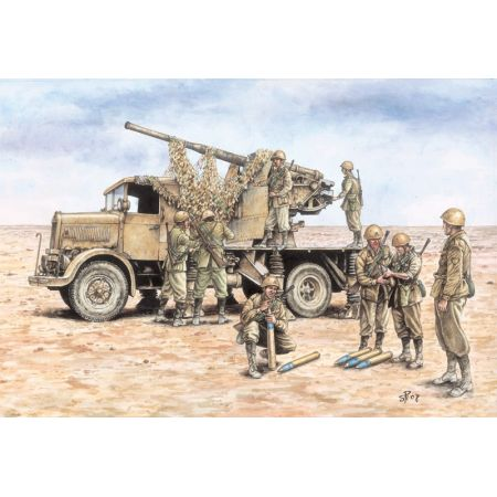 ITALERI 7508 AUTOCANNONE 3RO with 90/53 AA GUN - FAST ASSEMBLY