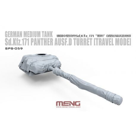 MENG MODEL SPS-059 German Medium Tank Sd.Kfz.171 Panther Ausf.D Turret (Travel Mode)