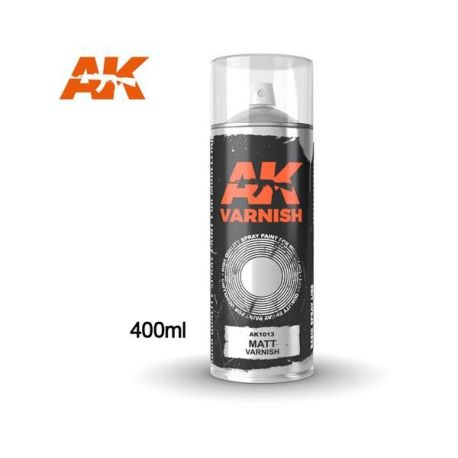 AK INTERACTIVE 1013 Matt Varnish - Spray 400ml (Includes 2 nozzles)