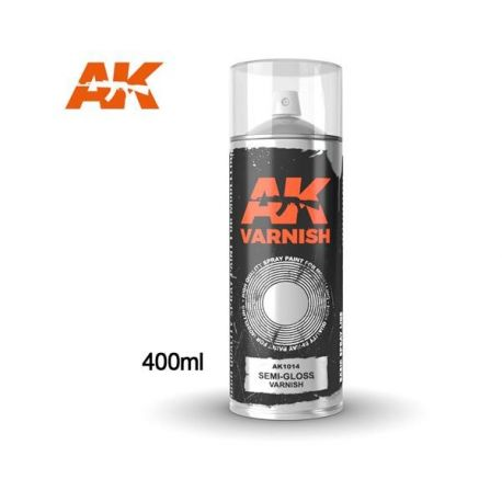 AK INTERACTIVE 1014 Semi-Gloss varnish - Spray 400ml (Includes 2 nozzles)