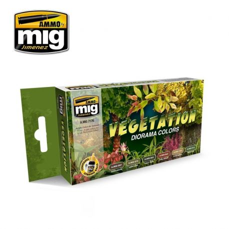 AMMO of Mig A.MIG-7176 VEGETATION DIORAMA COLORS SET