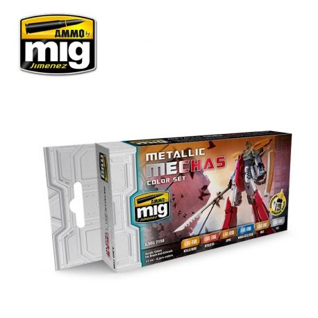 AMMO of Mig A.MIG-7158 METALLIC MECHAS COLOR SET