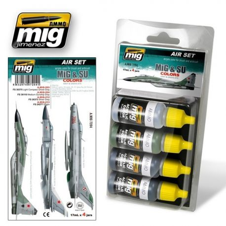 AMMO of Mig A.MIG 7204 MIG and SU Fighters Greys Set