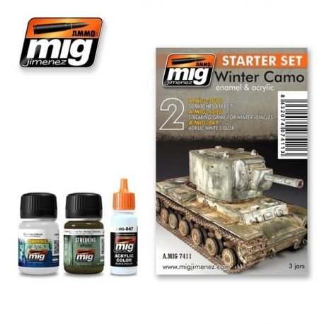 AMMO of Mig A.MIG 7411 Winter Camo - Enamel & Acrylic Set