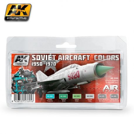 AK-Interactive AK 2300 SOVIET AIRCRAFT COLORS 1950-1970 SET