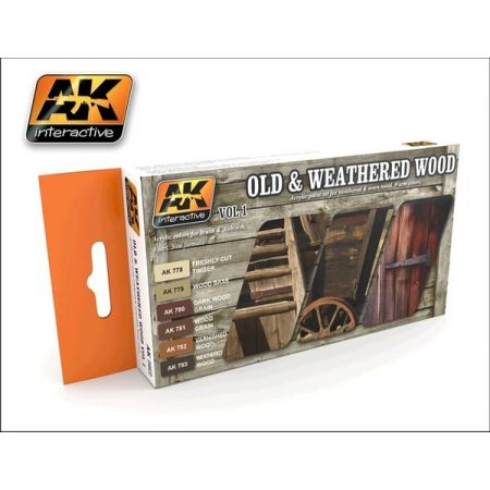 AK-Interactive AK 562 Old and Weathered Wood vol.1 set