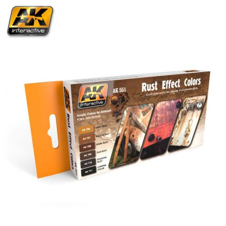 AK-Interactive AK 551 Rust Effect Colors Set