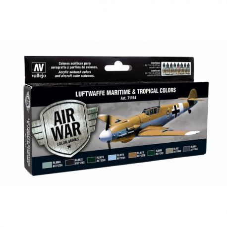 Vallejo 71164 Air War Color Series - Luftwaffe Maritime & Tropical Colors Set
