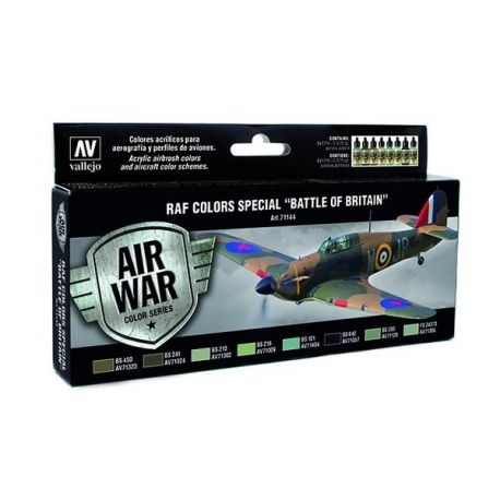 "Vallejo 71144 Air War Color Series - RAF Colors Special ""Battle of Britain"" Set"