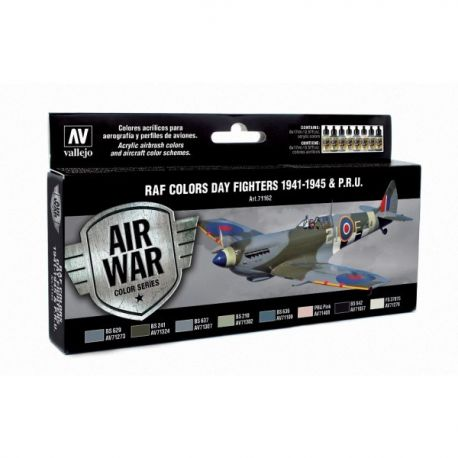 Vallejo 71162 Air War Color Series - RAF Colors Day Fighters 194-1945 & P.R.U. Set