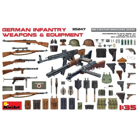 Miniart 35247 GERMAN INFANTRY WEAPONS & EQUIPMENT