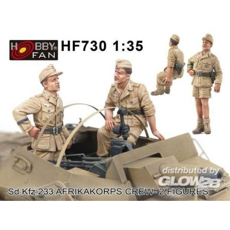 Hobby Fan HF730 Sd Kfz 233 Afrikacorps Crew 2 Figures