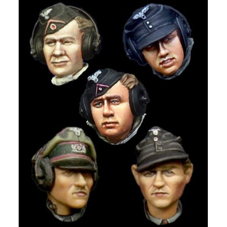Alpine Miniature H021 German Panzer Crew Head Set 1