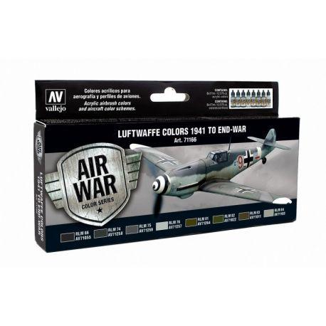 Vallejo 71166 Model Air Set - Luftwaffe Colors 1941 to end-war