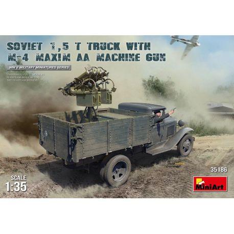 MINIART 35186 SOVIET 1,5 t. TRUCK w/ M-4 Maxim AA Machine Gun