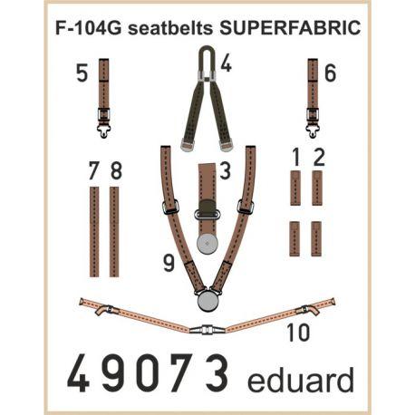 EDUARD 49073 F-104G seatbelts SUPERFABRIC 1/48