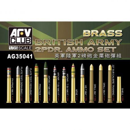Afv Club AG35041 British Army 2 pdr brass ammo set