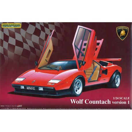 Aoshima 49600 Wolf Countach Version 1 1/24